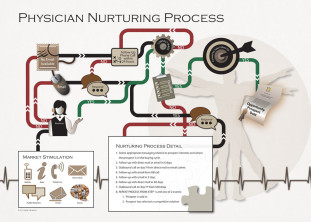 Physician Nurturing Process Chart